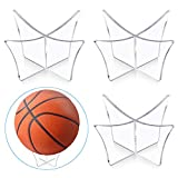 Heqishun 3 Pcs Support de Balle, Support de Ballon de Sports pour Basket-Ball Football Volley-Ball Rugby Support de Boule en Acrylique pour Placer et Présenter Les Balles