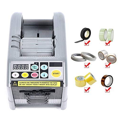 LaSoGi Dispensador de cinta eléctrico automático Cortador de cinta adhesiva Máquina de envoltura de cinta Juegos de dispensador de cortador de adhesivo para cinta de doble cara/Tela de vidrio