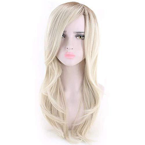 Peluca rubia con flequillo Peluca larga for mujer Peluca Sintética Resistente al calor Rubia Rubia Color Extensiones de cabello Pelucas Accesorios lucar