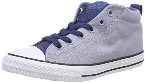 Converse Unisex-Kinder CTAS Street MID Hohe Sneaker, Blau (Glacier Grey/Navy/White), 35 EU