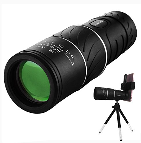 16x52 Monocular Telescope,AOBETAK High Power Spotting Scopes Equipped with Phone Adaptor and Tripod, Low Light Night Vision Binoculars or Adults Kids Bird Watching Traveling, Outdoors 98m/ 8000m…