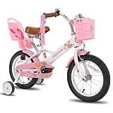 JOYSTAR Little Daisy - Bicicleta infantil de 16 pulgadas para niñas de 4, 5, 6, 7 años, con freno de mano