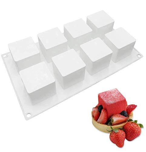 Baker Boutique Moule en Silicone 3D en Forme de Cube, Moule à gâteau pour la gelée, la pâtisserie et la crème glacée