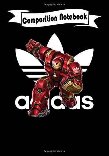 Composition Notebook: Adidas MCU Iron Man Hulk Buster Marvel, Journal 6 x 9, 100 Page Blank Lined Paperback Journal/Notebook