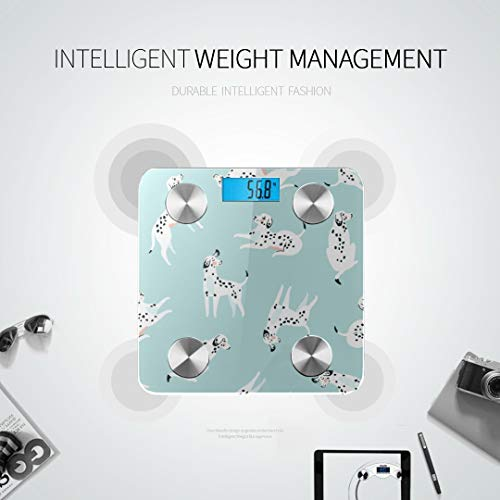 Cartoon Funny Dogs Cute Puppies Best Weight Scale Body Fat Weight Scale Most Accurate Bathroom Scale Tracks 8 Key Compositions Analyzer Sync with Fitness Apps 400 Lbs