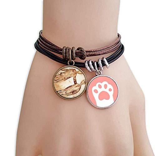 DIYthinker Womens mei juni Gemini sterrenbeeld dierenriem katten armband lederen touw polsband paar set