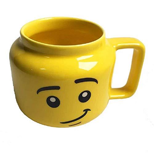 Keramik Kaffeetasse Lächeln Emoticon Wasser Tasse gelb niedlich Smiley Gesicht
