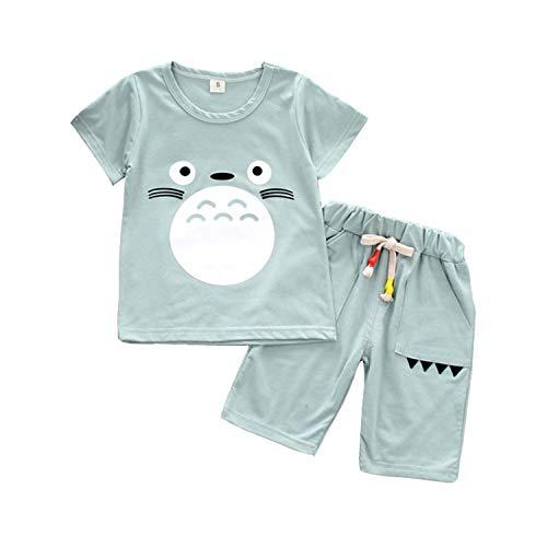 CHAIRAY Baby Boys Totoro Printed Short T-Shirt and Pants Summer Cotton Shorts Set