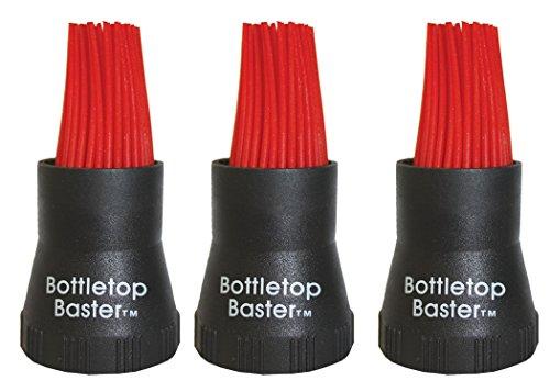 Jokari Crazy, aber es funktioniert Silikon Bottletop BBQ Bratenspritze, schwarz, 3er Pack