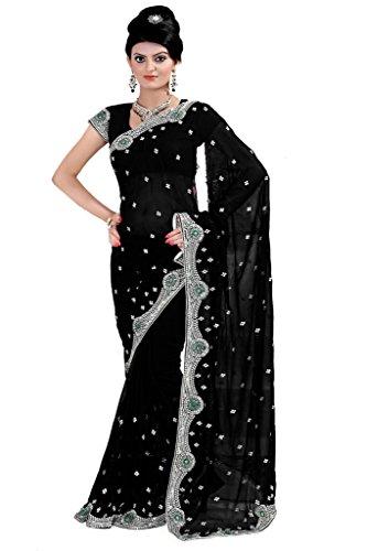 Mirchi Fashion Bollywood Damen Sari mit Ungesteckt Oberteil/Top Designer Saree