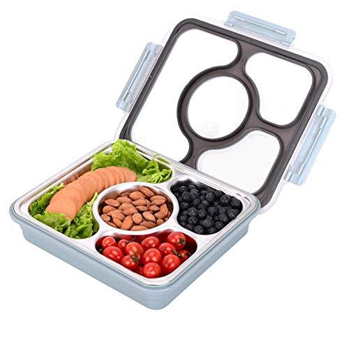 ning88llning5 Brotdose 1200 Ml Lunchbox Edelstahl Bento-Boxen Auslaufsicher Eco-Mikrowelle Geschirr Vorratsbehälter Lunchbox Kitch, Schwarz, China