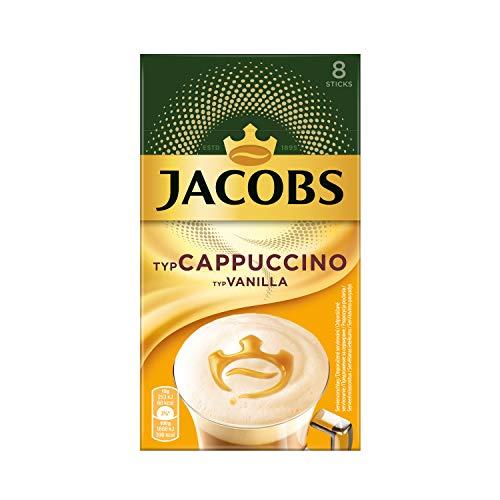 Jacobs Cappuccino Vanilla, 80 Kaffeesticks, 10 x 8 Getränke, 1.2 k.g