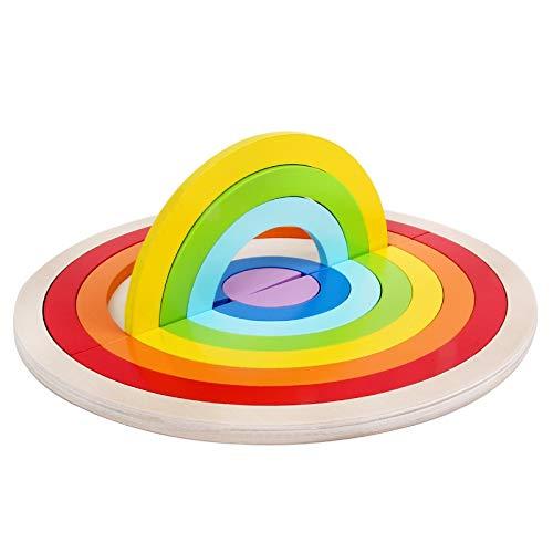 Coche de juguete de los niños Bloques de juguetes, colorido en forma de puente de arco de medio punto bloques de construcción, el desarrollo intelectual del bebé niños y niñas de 3-6, la primera infan