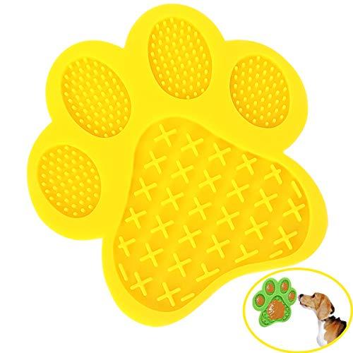 Mycicy Hunde-Leckpad, Hundewasch-Ablenkungsgerät, langsames Fressen Hundematte mit Super Saugnapf für Hunde Leckt Erdnussbutter, Haustierbaden, Fellpflege und Hundetraining