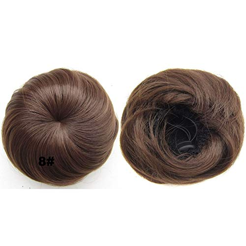 Pelucas mujer Sintético del moño de pelo Negro Marrón