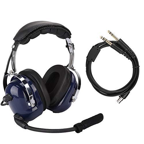Aviation Headset - General Aviation Headset, Pilotenkopfhörer mit Zwei Steckern, 3,5-mm-Headset zur Rauschunterdrückung für Piloten