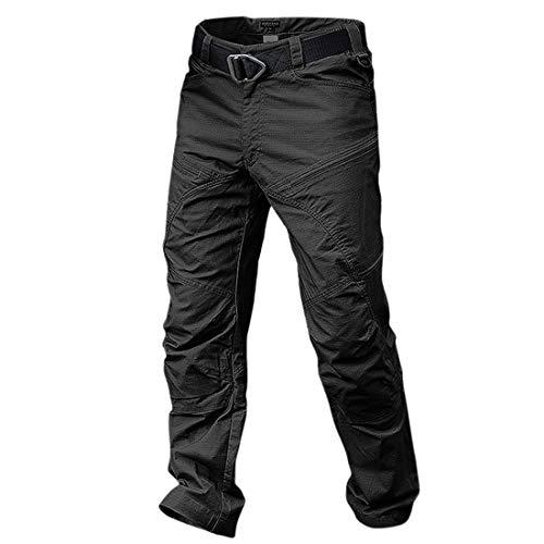 Xianheng Pantalón Táctico Impermeable Pantalones de Carga para Hombre contra Viento Resistente al Desgaste Camping Actividades al Aire Libre #2 L