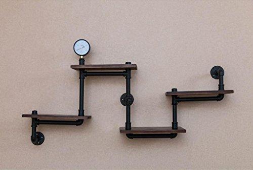 Rustieke planken, plank hoek rack retro industriële pijp ijzer muur rek, muur massief hout doen de oude plank Board decoratie creatieve studie boek plank GLF