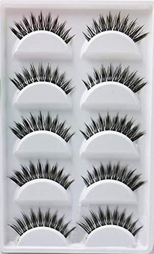 JUNGEN Falsche Wimpern 5 Paare 3D Wimpern Künstliche Nerz Haar Auge Peitsche Natürliche Schwarz Lange für Make-up Eyelasches (AMX14)