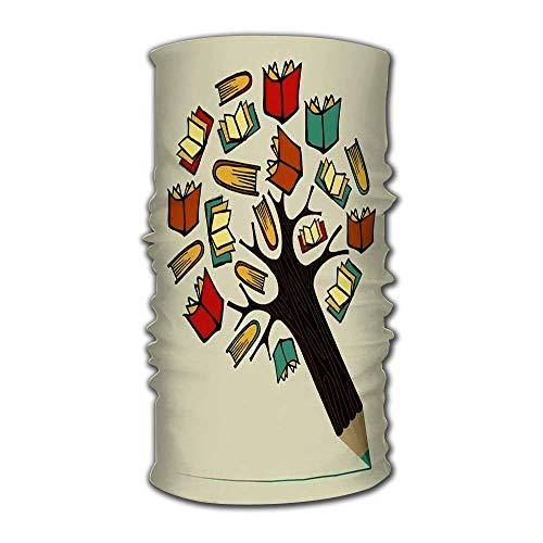 Quintion Robeson Stirnband Lesebücher Bildung Konzept Bleistiftbaum geschichtet für einfache Manipulation Bandana Helm Liner Sturmhaube Rohr