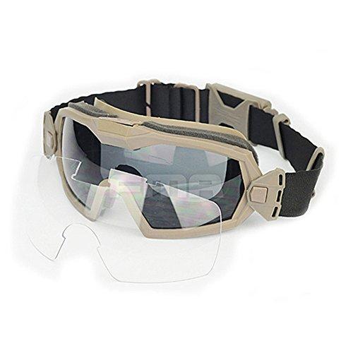 Gafas de protección con sistema de ventilación para práctica deportiva, ciclismo, conducción, tácticas, paintball, airsoft, esquí, snowboard, de color negro , DE