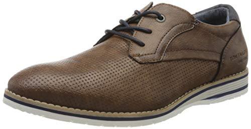 TOM TAILOR 8080506, Zapatos de Cordones Oxford Hombre, Braun Nuts 00018, 42 EU