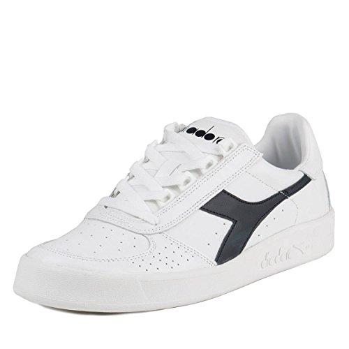 Diadora - Sportschuhe B.Elite für Damen und Herren, Weiß - Blu Den White - Größe: 44.5 EU