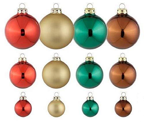 Weihnachtsbaumkugeln Lieblingsstücke Set 40 Stück Thüringer Glasdesign bunt