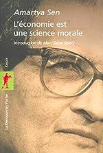 L'économie est une science morale d'Amartya Sen