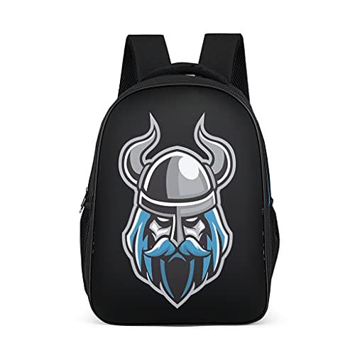 Hinfunees Mochila Viking Odin Raven, diseño de mochila para estudiantes y estudiantes, gris brillante., talla única