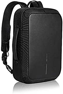 XD Design Bobby Bizz Anti-Theft Backpack/Briefcase, Unisex - Black