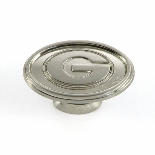 University of Georgia - Cabinet Knob in Satin Nickel