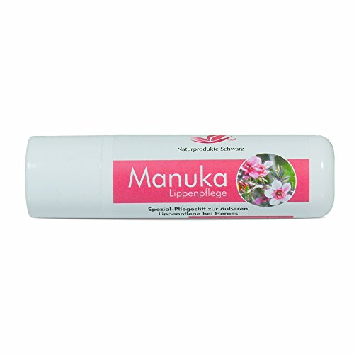 Naturprodukte Schwarz - Manuka Lippenpflege - Lippenstift bei Herpes, 4,8g