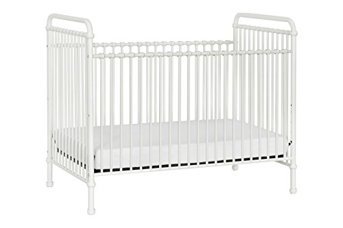 Million Dollar Baby Classic Abigail 3-in-1 Convertible Iron Crib, Washed White