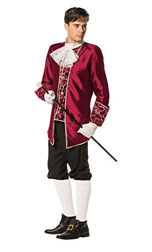 shoperama Marquis - Disfraz barroco rococó para hombre, traje TAFT GRAF, águila francesa, renacimiento de sade Carnaval, color: burdeos, talla: 58