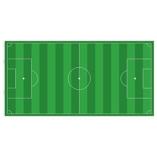 Limmaland Möbelaufkleber Fußballfeld grün - passend für IKEA LINNMON/Alex Schreibtisch - Möbel Nicht inklusive