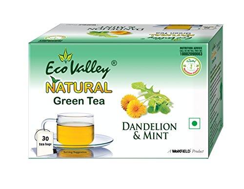 Eco Valley Natural Green Tea, Dandelion and Mint, 30 Tea Bags