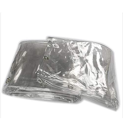 JIANFEI Bâche Imperméable Résistant À La Pluie Rideau De Porte Boutonnière Hydratant, PVC 3 Couleurs 23 Taille Personnalisable (Couleur : Clair, taille : 2x3m)