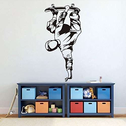 Skateboard skateboard deportes extremos vinilo pegatinas de pared calcomanías de pared de inspiración familiar pegatinas de pared de la sala de estar