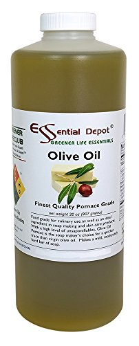 Olive Oil - Pomace Grade - 1 Quart - 32 oz - safety sealed HDPE container with resealable cap