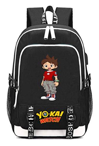WANHONGYUE YO-Kai Watch PuniPuni Juego Bolsa de Estudiante Mochila para Portátil con Puerto de Carga USB y Conector para Auriculares /2