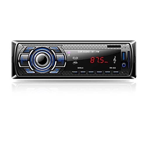 Aigoss Autoradio mit Bluetooth Freisprecheinrichtung, 4 x 60W Digital Media-Receiver, AM/FM/USB/ MP3-Media-Player, Drahtlose Fernbedienung Enthalten