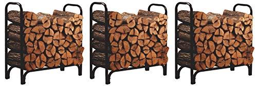 Sale!! Panacea 15203 Deluxe Outdoor Log Rack, Black, 4-Feet (Pack of 3)