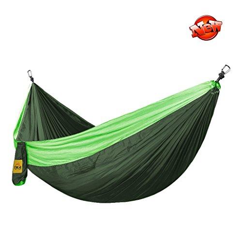 Hamacs Camping en Plein air Portant Poids Jardin et Patio (Color : Dark Green, Size : 280 * 180cm)