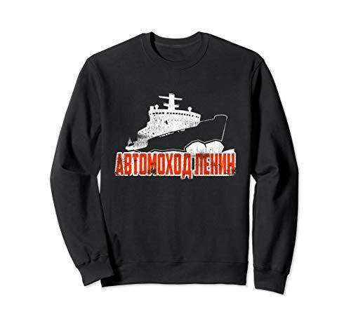 Sowjetisches Atombrecher-Eisbrecher-Kriegsschiff Sweatshirt