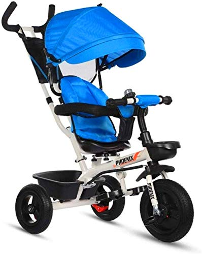 【Nouvelle mise à jour】 Caballo de oscilación de cochecitos de niños del triciclo triciclos Niños 3 en 1 bici del bebé de carbono Material Acero Adecuado for 1-6 años de edad bebé asiento ajustable pro
