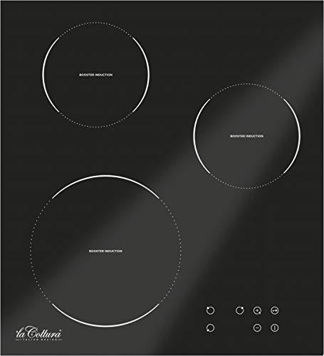 La Cottura | H4T38CN.000 Piano Cottura Induzione da 45 cm 3 Fuochi, Nero