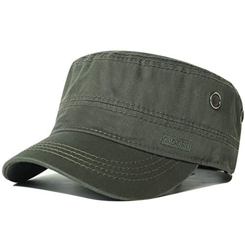 CACUSS Unisex Cappello Militare Cadetto Cadet cap Uomini Cotone Cappello da Baseball Regolabile per Ambientazione Esterna, Sport, Viaggi (P0041_Oliva)