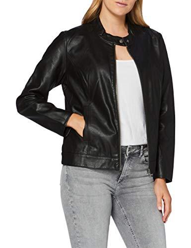 ONLY Carmakoma Damen CARROBBER Faux Leather Jacket NOOS Lederjacke, Schwarz, 46