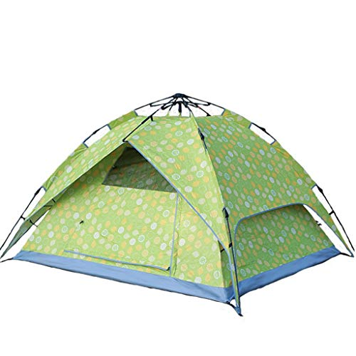 Automatische Instant Tent - draagbare camping Tent Pop Up Tent - geschikt for 3 personen - Ramen en deuren aan beide zijden - Waterdicht, UV-bescherming tegen de zon Shelter - Carry Bag